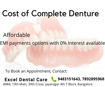 cost of denture in Bangalore